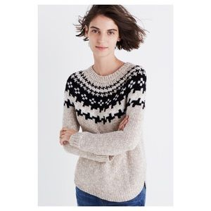 Madewell Driftweave Fair Isle Sweater S